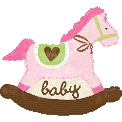 GLOBO SUPERFORMA CABALLO BABY ROSA