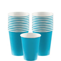 VASOS COLOR AZUL CARIBE