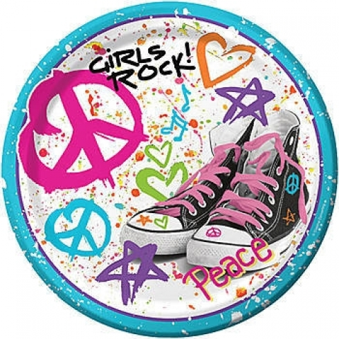 PLATOS DE 18CM GIRLS ROCK