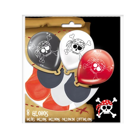 GLOBOS DE LATEX PIRATAS