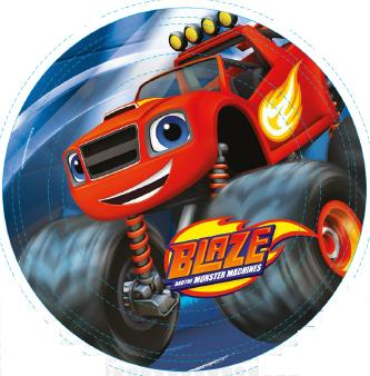 PLATOS DE 23CM BLAZE AND THE MONSTER MACHINES