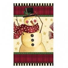 Cozy Snowman Plastic Tablecover