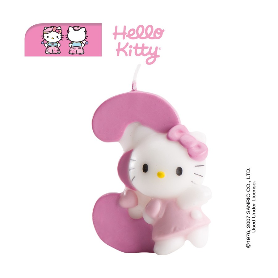 Vela Hello Kitty número 3
