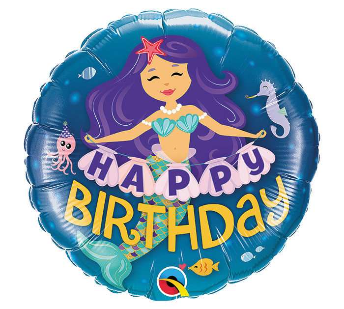 GLOBO HAPPY BIRTHDAY  MERMAID
